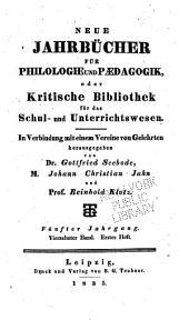 Neue Jahrbücher für Philologie und Paedagogik: Band 14