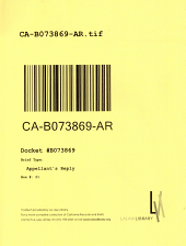 California. Court of Appeal (2nd Appellate District). Records and Briefs: B073869, Appellant's Reply
