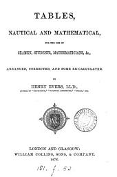 Tables, nautical and mathematical