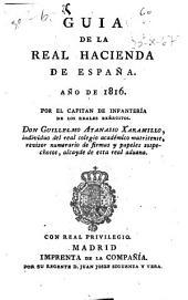 Guía o estado general de la Real Hacienda de España ...