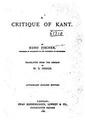 A Critique of Kant