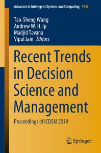 Recent Trends in Decision Science and Management PDF