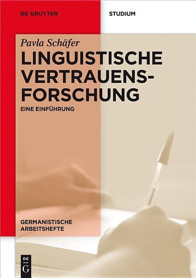 Linguistische Vertrauensforschung PDF