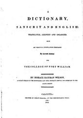A Dictionary, Sanscrit and English