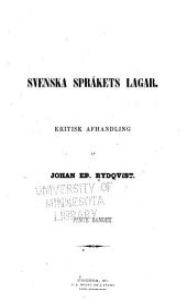 Svenska språkets lagar: 12. bok. Ordbildning