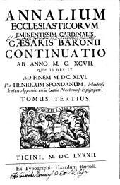 Annales ecclesiastici ... ¬Caesaris ¬Baronii: Volume 3