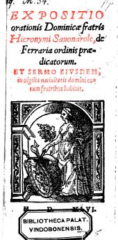 Expositio orationis Dominicae ... et sermo eiusdem in vigilia nativitatis domini