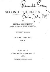 Second Thoughts: Volume 1