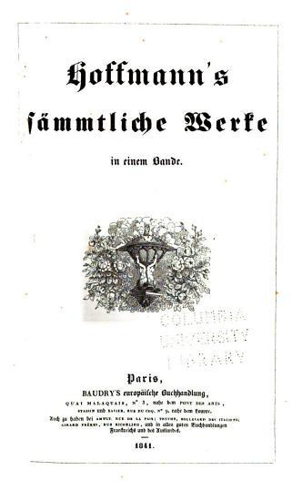 Hoffmann s s  mmtliche Werke PDF