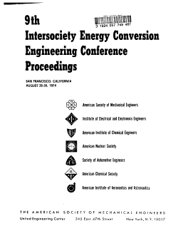 Intersociety Energy Conversion Engineering Conference Proceedings PDF