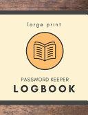 Large Print Password Keeper Logbook