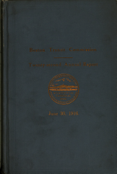 Annual Report of the Boston Transit Commission ...