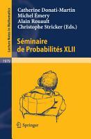 S  minaire de Probabilit  s XLII PDF