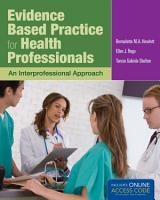 Evidence Based Practice for Health Professionals PDF