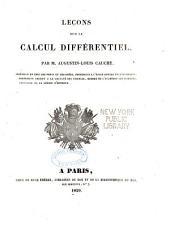 Leçons sur le calcul différentiel