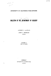 University of California Publications. Bulletin of the Department of Geological Sciences: Volume 6