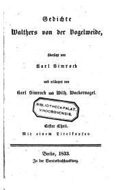 Gedichte Walthers con der dogelweide