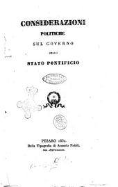 Considerazioni politiche sul governo dello Stato pontificio