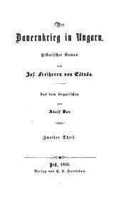 Der Bauernkrieg in Ungarn: historischer Roman, Band 2