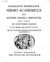 Sermo academicus de honore medici, servitute