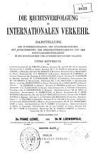 Die Rechtsverfolgung im internationalen Verkehr PDF