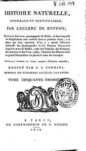 Histoire naturelle generale et particuliere: Volume53