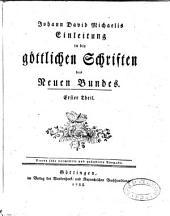 Johann David Michaelis Einleitung in die göttlichen Schriften des neuen Bundes: Band 2