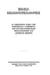 Hegels religionsphilosophie: in gekürzter Form