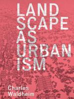 Landscape as Urbanism PDF