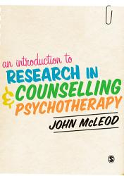 An Introduction to Research in Counselling and Psychotherapy PDF