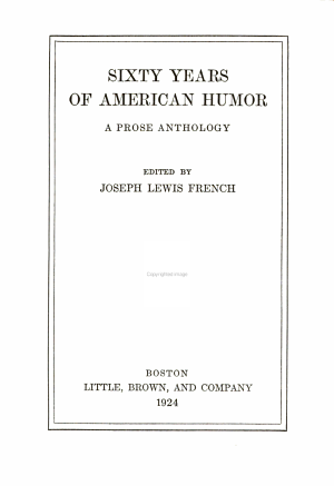 Sixty Years of American Humor
