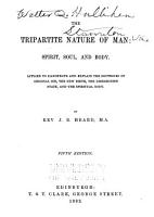 The Tripartite Nature of Man  Spirit  Soul  and Body PDF