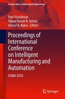 Proceedings of International Conference on Intelligent Manufacturing and Automation PDF