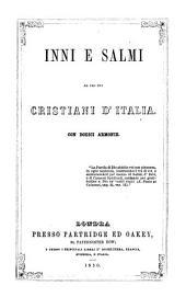Inni e salmi ad uso dei cristiani d'Italia, con dodici armonia