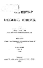 A General Biographical Dictionary: Volume 4