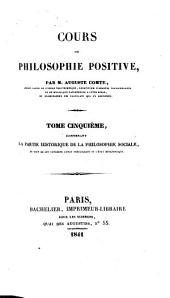 Cours de philosophie positive: Volume 5
