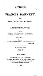 Memoirs of Francis Barnett  the lef  vre of  No fiction   by A  Reed  and a review of that work PDF