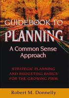 GUIDE BOOK TO PLANNING   A COMMON SENSE APPROACH PDF