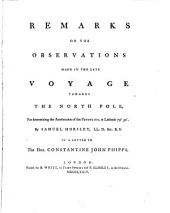 Remarks on the Observations Made in the Late Voyage Towards the North Pole, for Determining the Acceleration of the Pendulum in Latitude 79050