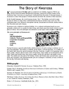 Kwanzaa Activities PDF