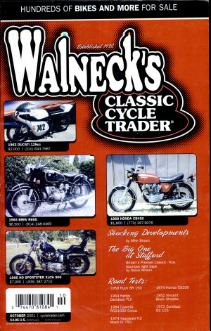 WALNECK S CLASSIC CYCLE TRADER  OCTOBER 2001