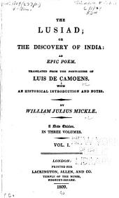 The Lusiad: or, The discovery of India: an epic poem, Volume 1
