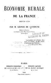 Économie rurale de la France depuis 1789