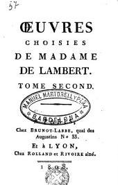 Oeuvres choisies de Madame de Lambert