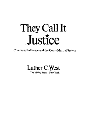 They Call it Justice PDF