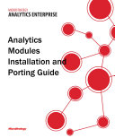 Analytics Modules: Installation and Porting Guide for MicroStrategy Analytics Enterprise