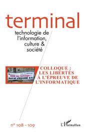 Colloque : Les libertés à l'épreuve de l'informatique