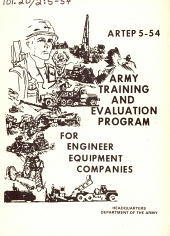 Army Training and Evaluation Program for Engineer Equipment Companies