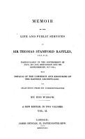 Memoir of the Life and Public Services of Sir Thomas Stamford Raffles PDF