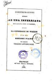 Considerazioni intorno ad una inferriata riguardata come superficie, ovvero La conoidale di Wallis e le sue sezioni piane dell'architetto Vincenzo Antonio Rossi